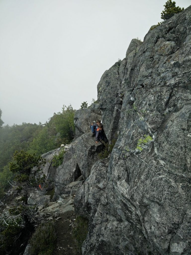 Scrambling to the summit