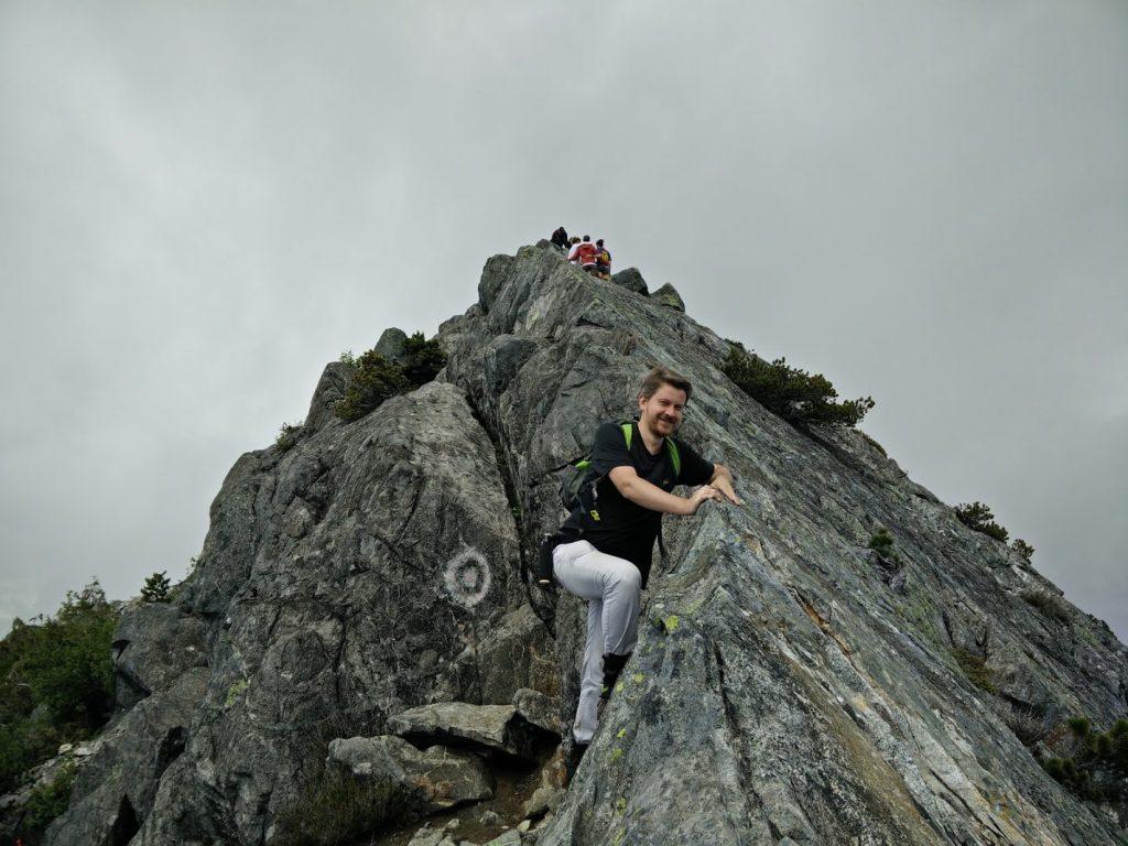 Yury easy rock climbing
